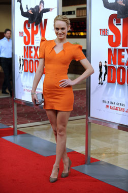 Amber at The Spy Next Door Premiere