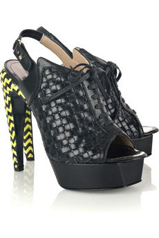 Proenza Schouler neon weave shoes from Net-a-Porter