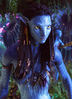 Zoe as Neytiri in Avatar