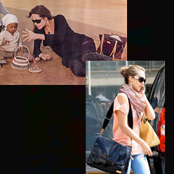 Angelina Jolie and Jessica Alba using Storksak bags