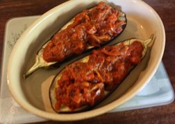 <b>Aubergine baked with...</b>