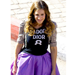 Carre in J'adore Dior Tshirt and Zac Posen Underskirt