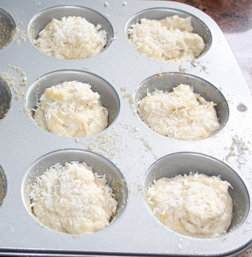 Coconut and Banana Muffins - sprinkle coconut on top before baking