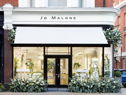 Jo Malone Store decorated for Chelsea Flower Show