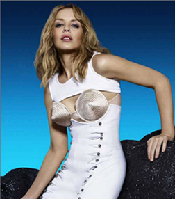 Kylie Minogue in a Jean-Paul Gaultier Conical Bra design