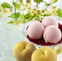 Pomegranate, White Peach & Orange Blossom sorbet