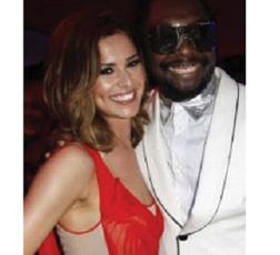 Will I Am and Cheryl Cole in Cannes