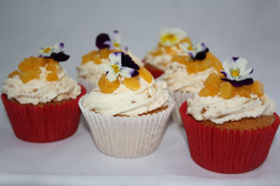 Amaretto Apricot Cream Cupcakes