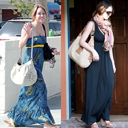 Best Maxi Dresses - Miley Cyrus and Jessica Alba