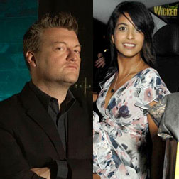Charlie Brooker and Konnie Huq