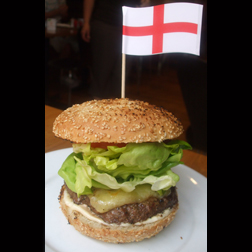 England Burger from the Gourmet Burger Kitchen