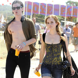 George Craig and Emma Watson at Glastonbury