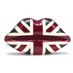 Lulu Guinness Union Jack Clutch