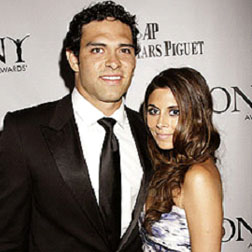 Mark Sanchez and Jamie-Lynn Sigler at the Tony Awards