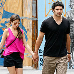 Mark Sanchez and Jamie-Lynn Sigler in NYC's Meat Packing District