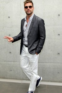 Ricky Martin at Georgio Armani SS10