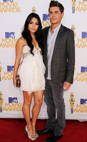 Vanessa Hudgens and Zac Efron at the MTV Movie Awards 2010