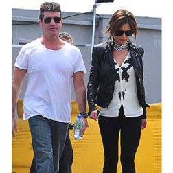 Cheryl Tweedy looking super thin next to Simon Cowell