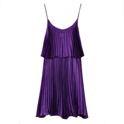 Halston Heritage Iris Pleated Cocktail Dress