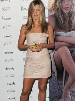 Jennifer Aniston at her Fragrance launch in Harrods
