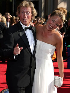 Nigel Lythgoe and Cat Deeley (So You Think You Can Dance judge and presenter)