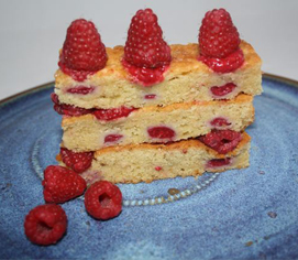 Raspberry and Sour Cream Cake