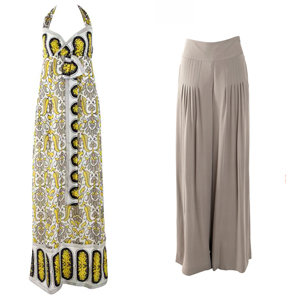 Summer Maxi Dress and Wide Leg Trousers