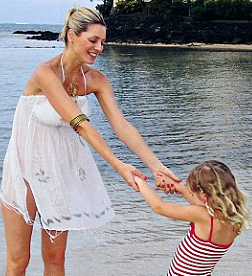 Tess Daly with her daughter