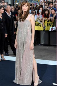 Anglelina Jolie at the UK premiere of Salt