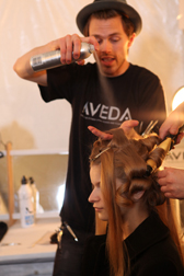 Aveda Control Force Hair Spray used backstage at NY Fashion Week