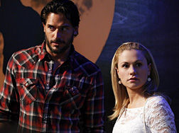 Joe Manganiello on the set of True Blood