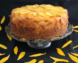 Just Peachy Cake - crispened sides