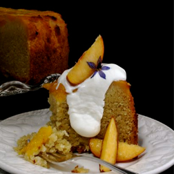 Just Peachy Cake - serve