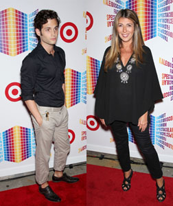 Penn Badgley and Nina Garcia