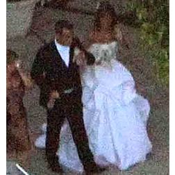 Robbie Williams and Ayda Field at their wedding