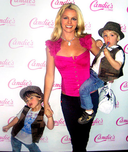 Britney with her two sons