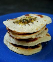 Dandelion pancakes