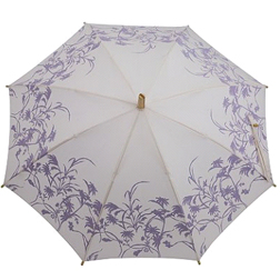 Fulton Eco Walker Umbrella in Cream&Purple