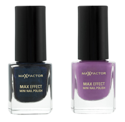 Max Effect Nail Polish - Cloudy Blue and Dive Violet