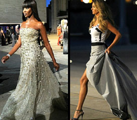 Naomi Campbell and Gisele Bundchen