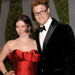 Seth Rogen and his fiancee Lauren Miller