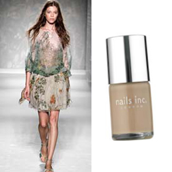 Alberta Ferretti SS11 and Nails Inc in Basil Street