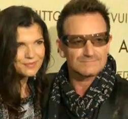 Bono and his wife Ali Hewson