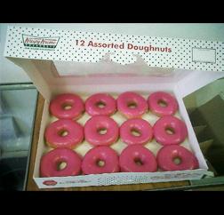 Breast Cancer Awareness Krispy Cremes