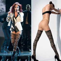 Cheryl Cole in Wolford Sahara Bondage Tights