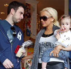 Christina Aguilera and Jordan Bratman with their son, Max