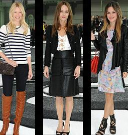 Claudia Schiffer, Vanessa Paradis and Rachel Bilson at Chanel