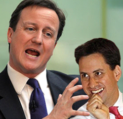 David Cameron clashes with Ed Miliband