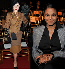 Dita von Teese and Janet Jackson at John Galliano