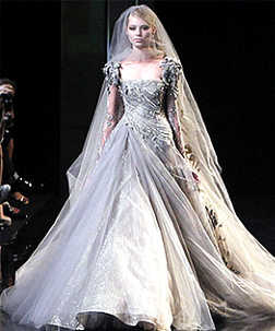 Katy Perrys wedding dress Elie Saab